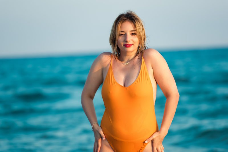Why am I buying cheap swimsuits that I am constantly pulling, tugging and adjusting  all while hiding it under a cover up for the entire summer? So I decided to accept the size that I am right now and invest in a swimsuit that actually makes me feel good.