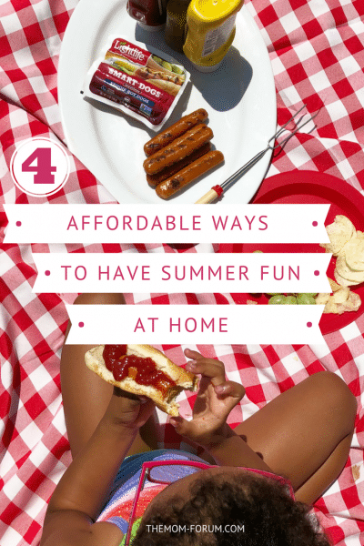 The opportunities for a some summer fun are soon coming to an end. In the meantime, your kids are eating you out of house and home. But I have good news…you can get those kids outside with affordable ways to have outdoor summer fun at home.