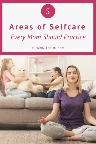 """This is not about grand acts of days at the spa or weekend get aways but the small every day acts that contribute to a mom's over all, wellbeing. You can find your own personal version of """"balance"""" of these 5 areas of selfcare every mom should practice...mental, physical, social emotional and spiritual care."""