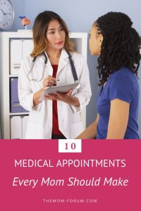 Making medical appointments is probably that one thing on your to do list that never really gets done. Meanwhile you are suffering from daily tension headaches, pee every time you sneeze, have a tooth ache or have not had your eyes examined in the last 3 years. So here are a list of medical appointments every mom should make but most of us avoid.