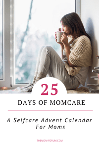 It's the holiday season and moms are going into high gear and it can be really stressful. But I want to encourage all you mommas to remember to take some time out for Mom Selfcare so that you can actually enjoy this season of joy. So here is a selfcare advent calendar for moms for the holiday season with 25 days of selfcare.